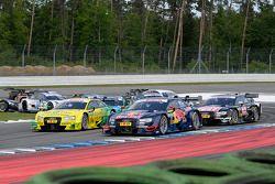 Mattias Ekström, Audi Sport Team Abt Sportsline, Audi RS 5 DTM; Mike Rockenfeller, Audi Sport Team P