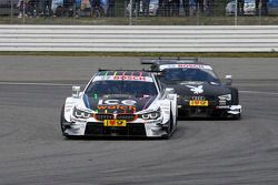 Battaglia tra Marco Wittmann, BMW Team RMG, BMW M4 DTM, e Edoardo Mortara, Audi Sport Team Abt, Audi