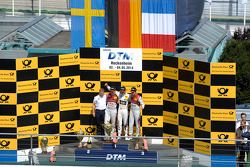 Podium, Mattias Ekstrom, Audi Sport Team Abt Sportsline, Audi RS 5 DTM, Marco Wittmann, BMW Team RMG