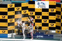 Podium, Marco Wittmann, BMW Team RMG, BMW M4 DTM, Mattias Ekstrom, Audi Sport Team Abt Sportsline, A