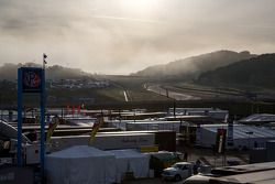 Morning fog at Laguna Seca