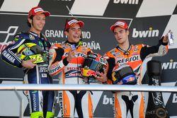 Race winner Marc Marquez, Repsol Honda Team, second place Valentino Rossi, Yamaha Factory Racing, th