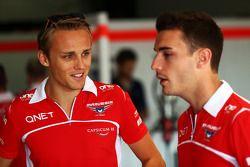 (L to R): Max Chilton, Marussia F1 Team with team mate Jules Bianchi, Marussia F1 Team