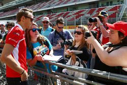 Max Chilton, Marussia F1 Team with fans