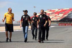 Pastor Maldonado, Lotus F1 Team e Charles Pic, terzo pilota, Lotus F1 Team