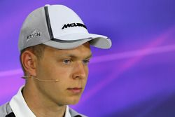 Kevin Magnussen, McLaren F1 during the press conference