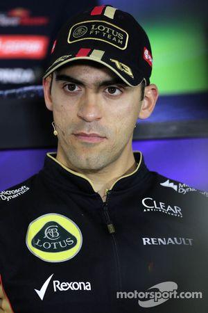 Pastor Maldonado, Lotus F1 Team during the press conference