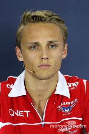 Max Chilton, Marussia F1 Team during the press conference
