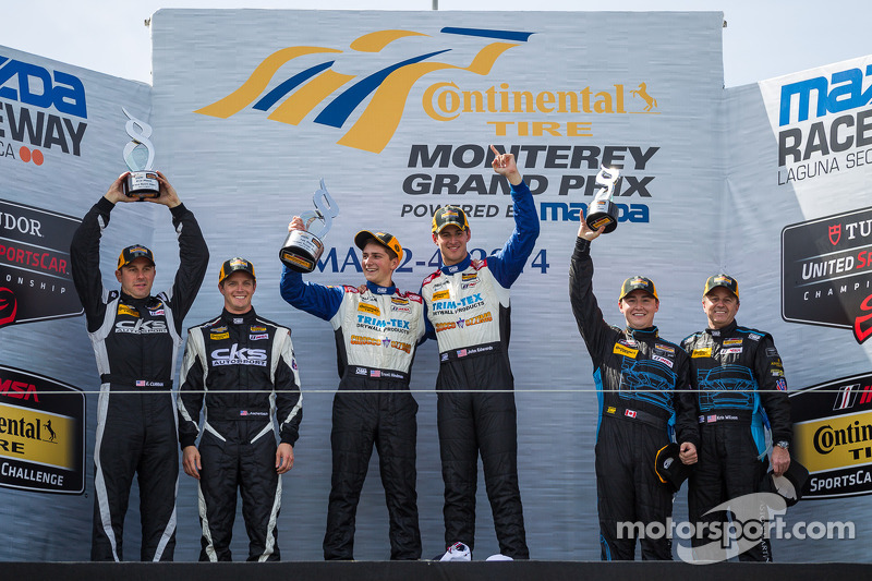 领奖台: 获胜者 Trent Hindman, John Edwards, 第二名 Eric Curran, Lawson Aschenbach, 第三名 Max Riddle, Kris Wilso