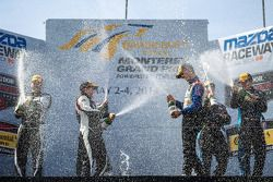 Podium: winners Trent Hindman, John Edwards, second place Eric Curran, Lawson Aschenbach, third plac