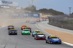 ST start: #5 CJ Wilson Racing Mazda MX-5: Stevan McAleer, Chad McCumbee leads