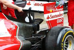 Ferrari F14-T Detalle del ala trasera