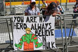 Banner for Nico Hulkenberg, Sahara Force India F1