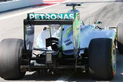 Lewis Hamilton, Mercedes AMG F1 W05 alerón trasero