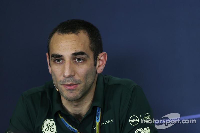 Cyril Abiteboul, Caterham F1 Team Principal de la Conferencia de prensa de la FIA