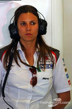 Simona de Silvestro teste pour Sauber
