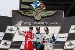 Podio: vincitore della gara Matteo Brabham, secondo posto di Luiz Razia, terzo posto Jack Harvey