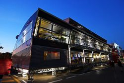 Red Bull Energy Station at night