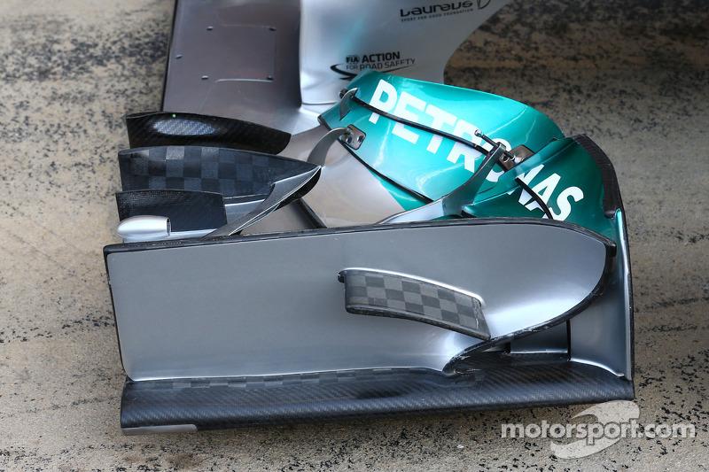 Mercedes AMG F1 W05 Detalle del ala delantera