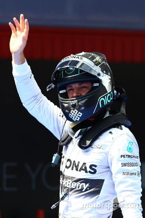 Second place qualifying for Nico Rosberg, Mercedes AMG F1 W05