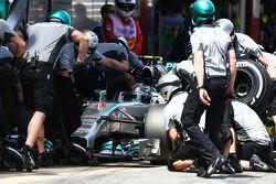 Nico Rosberg au stand