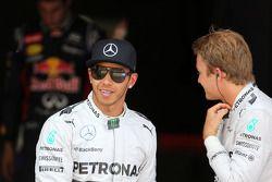 Pole position Lewis Hamilton, 2ème Nico Rosberg