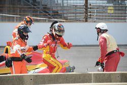 Sebastian Saavedra, KV Racing Technology Chevrolet depois de parar no grid