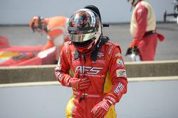 Sebastian Saavedra, KV Racing Technology Chevrolet, dopo aver stallato al via