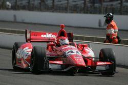 Martin Plowman, A.J. Foyt Enterprises Honda e Franck Montagny, Andretti Autosport Honda si scontrano