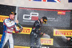 Podio: vincitore della gara Alex Lynn, secondo posto Jimmy Eriksson, terzo posto Richie Stanaway
