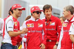 Marc Gene, Ferrari piloto de pruebas y Fernando Alonso, Ferrari