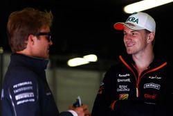 Nico Rosberg avec Nico Hülkenberg