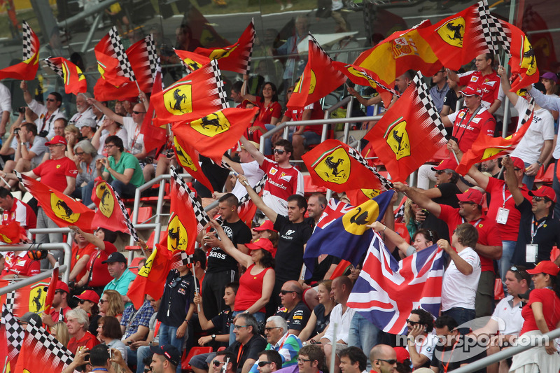 Ferrari fans in the grandstand at Spanish GP High-Res Professional ...