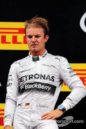 Nico Rosberg sur le podium