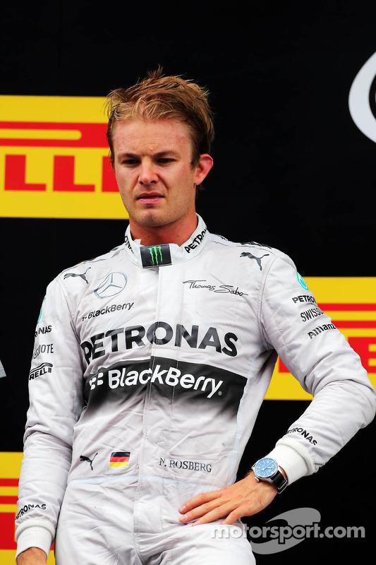 Nico Rosberg, da Mercedes AMG F1, no pódio