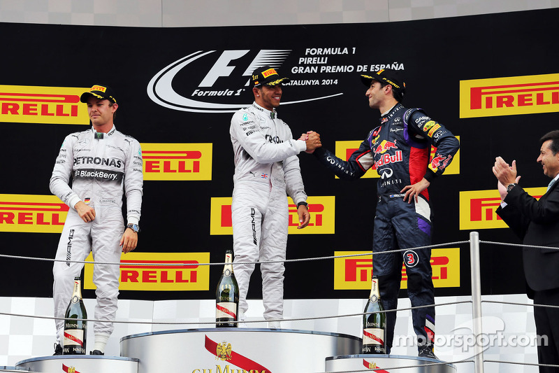 7. Lewis Hamilton-Nico Rosberg-Daniel Ricciardo: 8