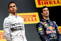 Podium: 1er Lewis Hamilton, 3ème Daniel Ricciardo