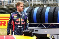 Sebastian Vettel sur la grille