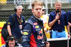 Startaufstellung: Sebastian Vettel, Red Bull Racing