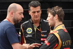 Gérard Lopez avec Federico Gastaldi et Romain Grosjan