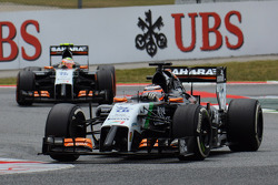Nico Hulkenberg, Sahara Force India F1 VJM07 y Sergio Pérez, Sahara Force India F1 VJM07
