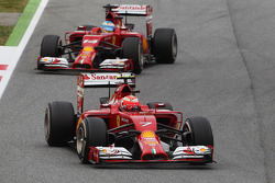 Kimi Raikkonen, Ferrari F14-T y Fernando Alonso, Ferrari F14-T
