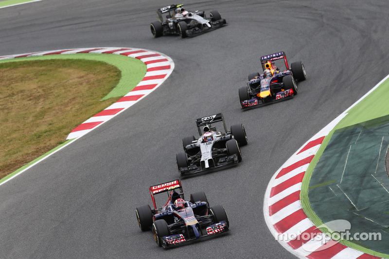 В гонке Даниил боролся с McLaren и Red Bull