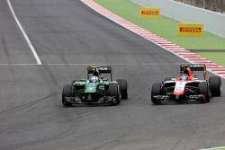 Marcus Ericsson, Caterham F1 Team and Max Chilton, Marussia F1 Team