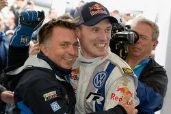 Jost Capito and winner Jari-Matti Latvala