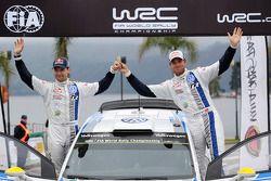 领奖台: Andreas Mikkelsen,和Mikko Markkula, 大众 Polo WRC, 大众车队