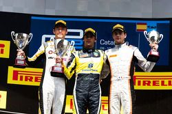 Race winner Felipe Nasr, second place Jolyon Palmer, third place Tom Dillmann