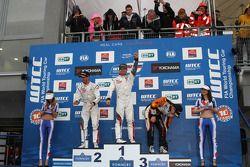 Sébastien Loeb, Citroen C-Elysee WTCC, Citroen Total WTCC, Jose Maria Lopez, Citroen C-Elysee WTCC, Citroen Total WTCC, Norbert Michelisz, Honda Civic WTCC, Zengo Motorsport, Petr Fulin, SEAT Leon WTCC, Campos Racing