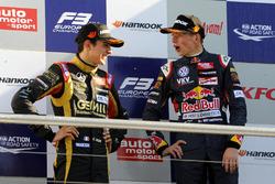 Podium : Esteban Ocon, Prema Powerteam, Max Verstappen, Van Amersfoort Racing