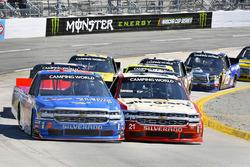 Stewart Friesen, Halmar Friesen Racing, Chevrolet Silverado We Build America and Johnny Sauter, GMS Racing, Chevrolet Silverado Allegiant Airlines